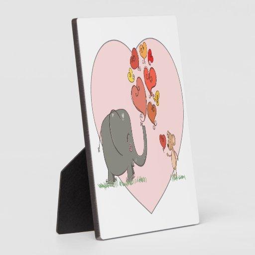 vector lindo del amor de la tarjeta del día de San Placa Para Mostrar
