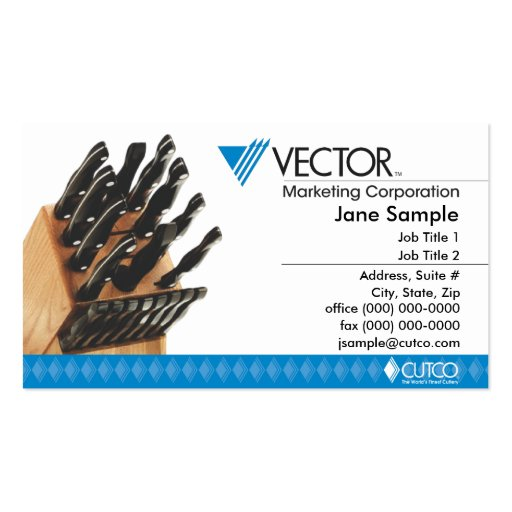 21 cutco business cards and cutco business card templates for Marketing business card