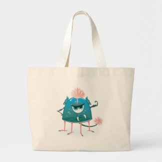 vector monster showing his power canvas bag