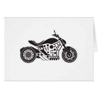 Vector Motorcycle Black simplified Card
