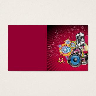 Vector-Music-Background-with-Speaker-and-Microphon Business Card