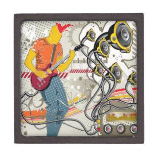 Vector musical theme design gift box
