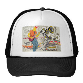 Vector musical theme design trucker hat