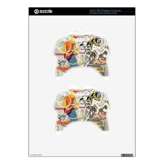 Vector musical theme design xbox 360 controller skins