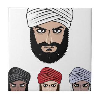 Vector musulmán árabe azulejo cuadrado pequeño