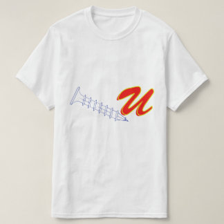 Vector outline of a Screw, with the letter U T-Shirt