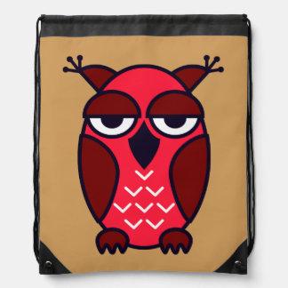 Vector Owl Drawstring Backpack