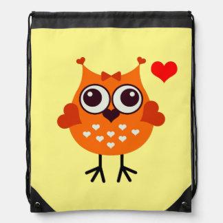 Vector Owl Drawstring Bag