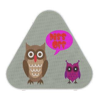 Vector Owl with urban slang Bluetooth Speaker