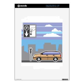 Vector pagado del coche del parquímetro calcomanía para iPad 2