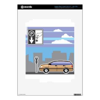 Vector pagado del coche del parquímetro iPad 3 skins