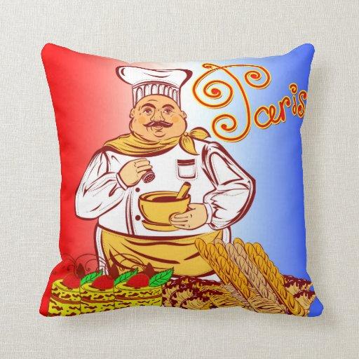 Vector Paris Baker Throw Pillow Zazzle