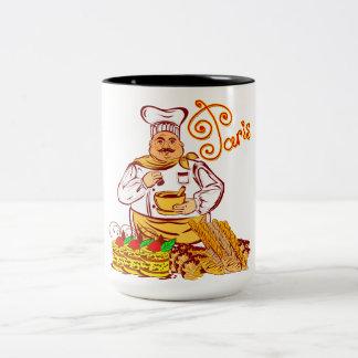 Vector Paris Baker Two-Tone Coffee Mug