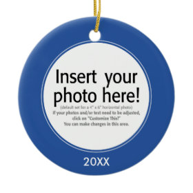 Vector Photo Frame - DOUBLE-SIDED ornament