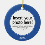 Vector Photo Frame - DOUBLE-SIDED Christmas Tree Ornament