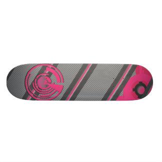 Vector Pink stripes Deck Skateboard