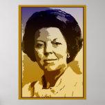 Vector pop art Beatrix of the Netherlands Poster