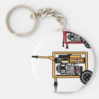 Vector portátil del generador llavero redondo tipo pin