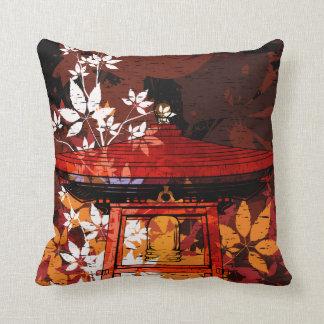 vector precioso de la arquitectura japonesa almohada