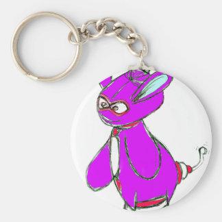 Vector púrpura de Yurple Llavero Personalizado