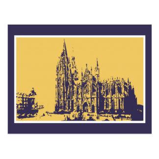 Vector que dibuja la catedral de Colonia (Dom de Tarjetas Postales