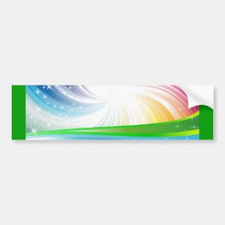 Vector Rainbow Colorful Background digital fun swi Bumper Sticker