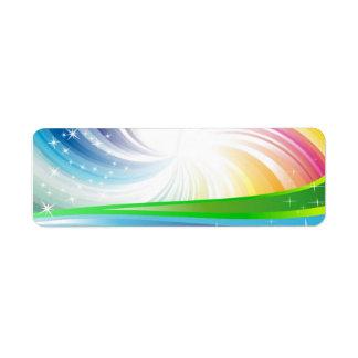 Vector Rainbow Colorful Background digital fun swi Return Address Label