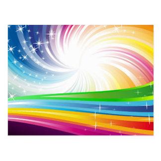 Vector Rainbow Colorful Background digital fun swi Postcard