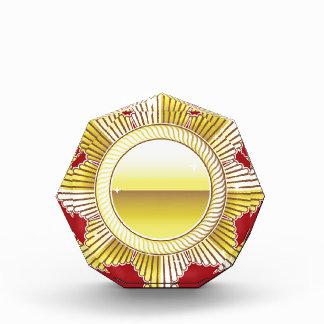 Vector real de oro del espacio en blanco de la