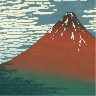 Vector Red Fuji Standing Photo Sculpture