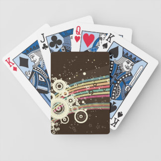 Vector retro enrrollado de los círculos (marrón) baraja de cartas