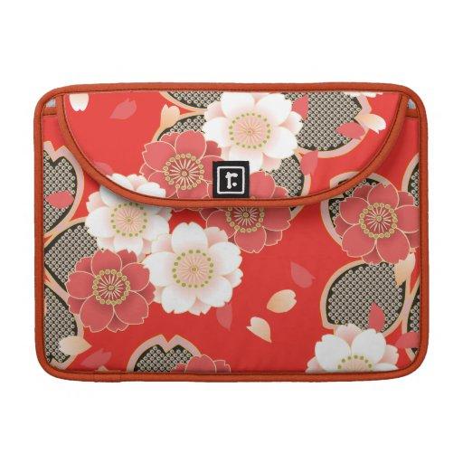 Vector retro femenino fresco lindo japonés fino fundas macbook pro