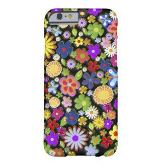 Vector retro femenino lindo del árbol de la flor funda barely there iPhone 6