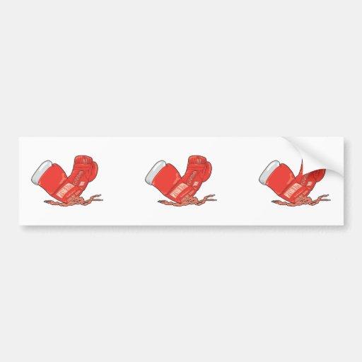vector rojo de los guantes de boxeo pegatina para auto