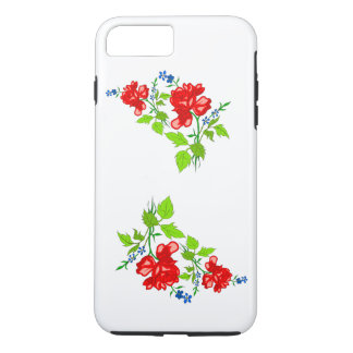 Vector rose  own (background colour background) iPhone 8 plus/7 plus case