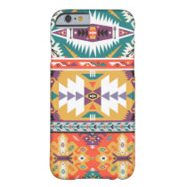 Vector seamless colorful tribal pattern barely there iPhone 6 case