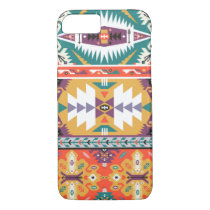 Vector seamless colorful tribal pattern iPhone 8/7 case