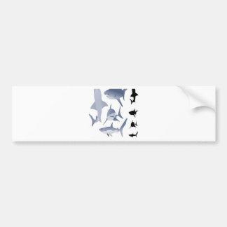 Vector sharks design bumper sticker