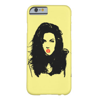 Vector Silhouette  Woman  Pop Art Barely There iPhone 6 Case