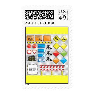 Vector - sistema de la muestra de la construcción timbre postal