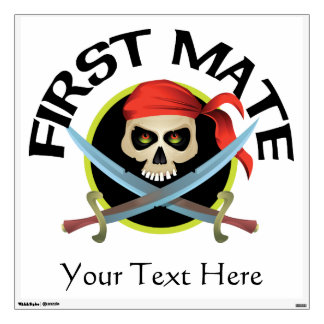 Vector Skull and Crossed Swords - First Mate Wall Sticker