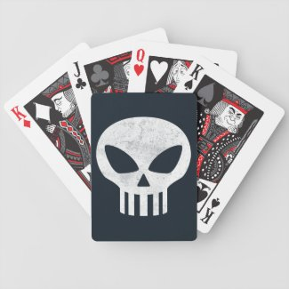 Vector Skull Distressed Bicycle Poker Cards