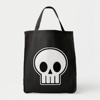 Vector Skull Halloween Trick or Treat Grocery Tote Grocery Tote Bag