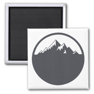 Vector Snowy Mountain Magnet