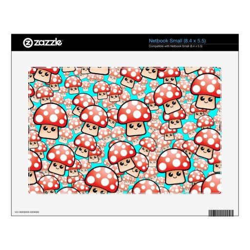 Vector sonriente lindo de las setas (editable) calcomanías para netbooks