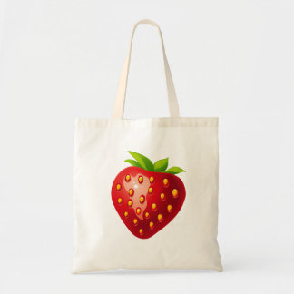 Vector  Strawberry Tote Bag