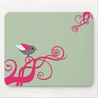 Vector tree with Bird Mouse Pads