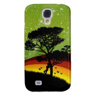 vector Tree with rainbow. iphone 3 case