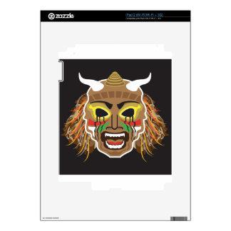 Vector tribal ritualista de la máscara calcomanías para iPad 2