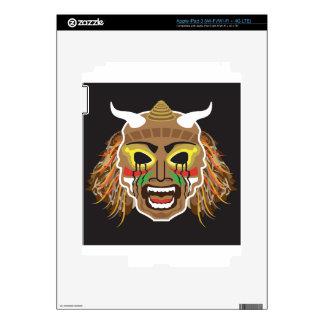 Vector tribal ritualista de la máscara iPad 3 skins